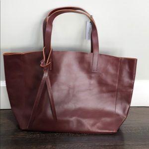 Velvet- Leather handbag